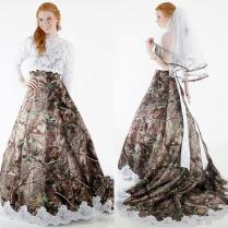 Popular Camo Wedding Dresses With Sleeves