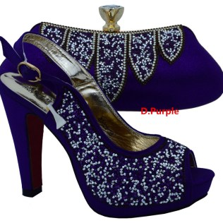 Popular Dark Purple Wedding Shoes