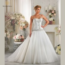 Popular Dropped Waist Wedding Dress