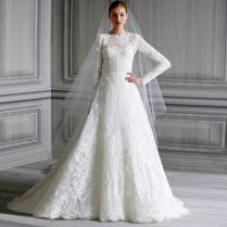 Popular Long Sleeve Muslim Wedding Dress