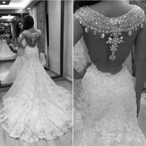 Popular Sexy Bling Bling Wedding Dress
