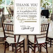 Printable Vintage Wedding Welcome Sign Thank You