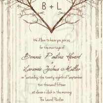 Printable Wedding Invitation X Branch Heart By Cyanandsepia