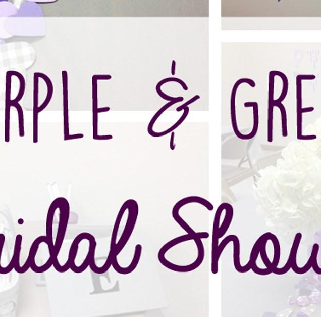 Purple And Grey Bridal Shower Ideas