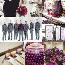 Purple Hues For Winter Wedding Color Ideas And Bridesmaid Dresses