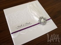 Purple Wedding Invitations With Bling About Our Company People