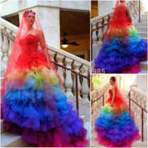 Rainbow Wedding Dresses For Sale