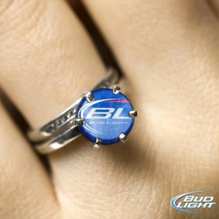 Redneck Engagement Ring Make It Budweiser And I Actually Love This