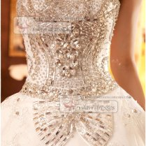 Retail And Wholesale Sparkly Rhinestone Crystal And Lace Beaded