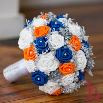 Royal Blue Orange Bouquet Lg (more Colors)