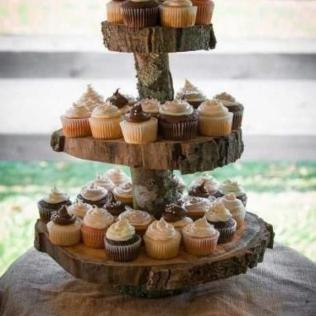 Rustic Cupcake Stand 2 Tier