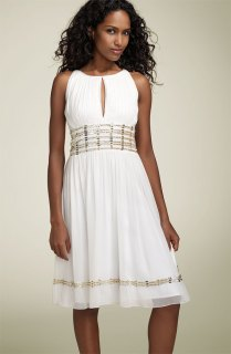 Simple Strapless Natural Short Wedding Dress With Gentle Folds