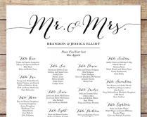 Simple Wedding Seating Chart, Romantic Wedding, Customizable