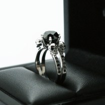 Skull Wedding Band With Genuine Diamonds By Dr Tom Raspotnik