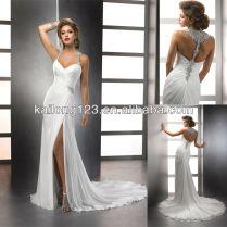 Slit Wedding Dress