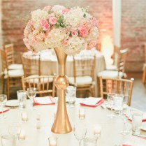 Soft Blush Pink And Gold Wedding Flowers And Decor, Wedding Table