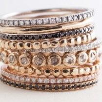Stackable Wedding Rings On Onewed