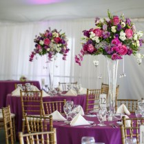 Table Centerpieces For Weddings Purple