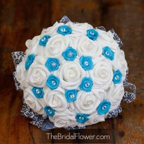 Teal And White Wedding Bouquets