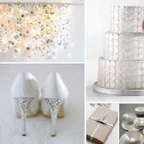 The Chic White And Silver Wedding Theme