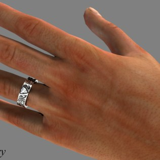 Trillion Cut Diamond Wedding Ring