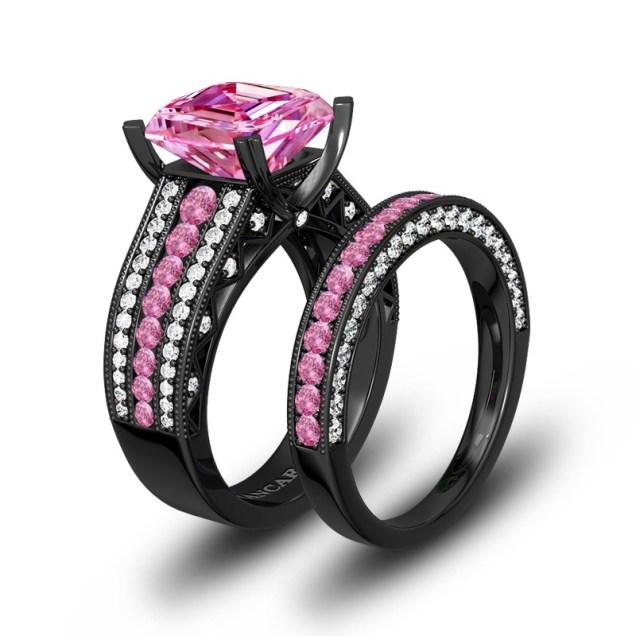 Vancaro Black Ring,black Engagement Ring,black Wedding Ring