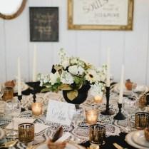 Vintage Gold Black And Lace Tablescape