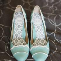 Vintage Mint Bridal Heels