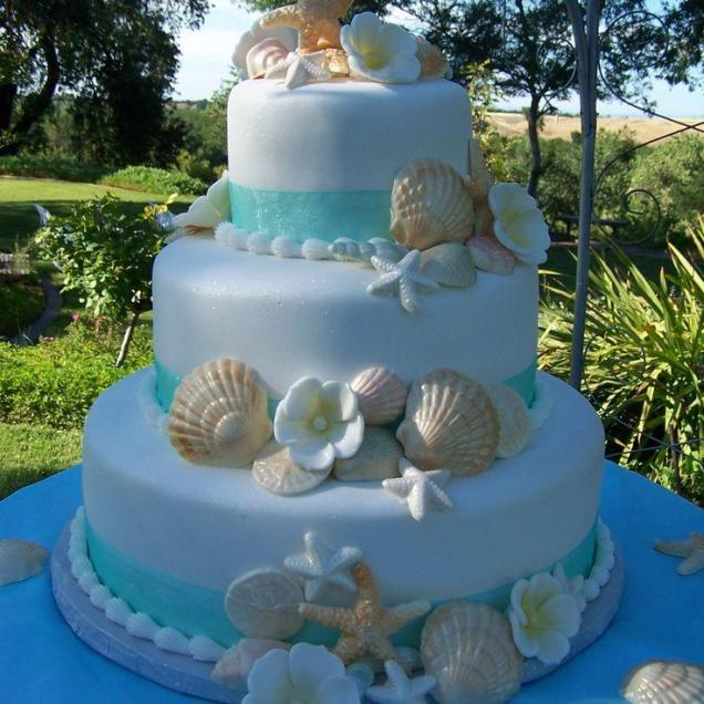 Wedding Cakes With Beach Theme