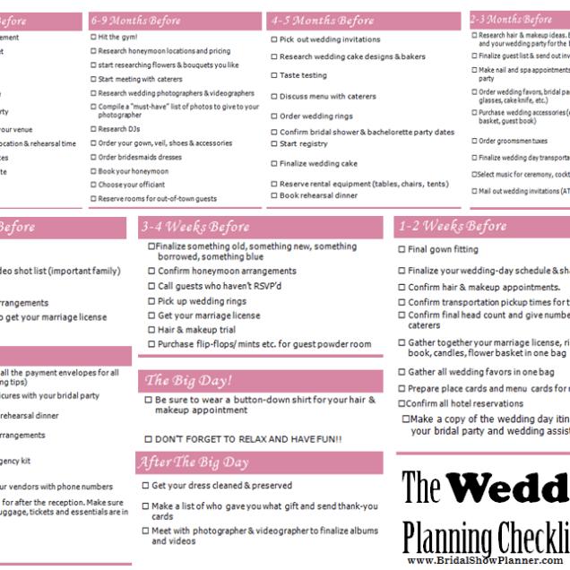 Wedding Checklist Pdf