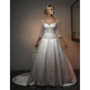 Wedding Dress Traditional White Wedding Dresses With Sleeves
