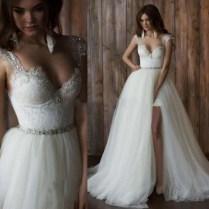 Wedding Dresses With Slits Up The Leg Photo Album