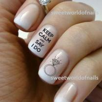 Wedding Nail Art Water Decals Water Transfers I Do Nails Wedding