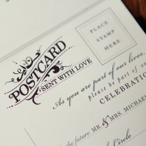 Wedding Post Cards Wedding Invitations With Rsvp Postcards