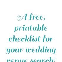Wedding Venue Search Checklist