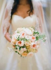 Wedding Wednesday 10 Beautiful Peach Wedding Bouquets