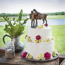 Western Wedding Cake Topper Cowboy & Cowgirl On Horse