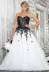 White And Black Wedding Dresses Ideas