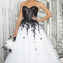 White And Black Wedding Dresses Ideas