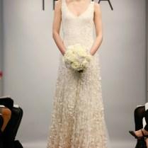 White Rose Petal Wedding Dresses 2013