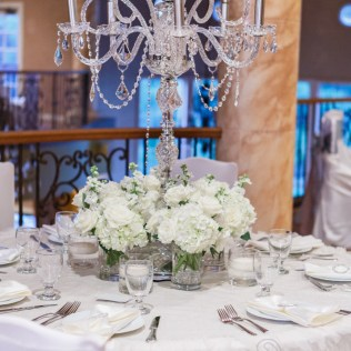 White Wedding Flowers Centerpieces Crystal Candelabra Wedding