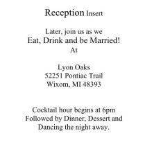 Wording On Invitation Inserts – Examples In Post