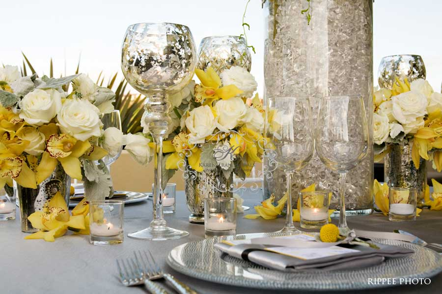 Yellow And Gray Wedding Decorations