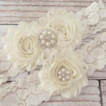 Your Color ,ivory Wedding Garter Set , Wedding Garter , Bridal