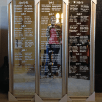 16 Mirror Seating Chart Ideas For Your Reception! – I Do Ghana