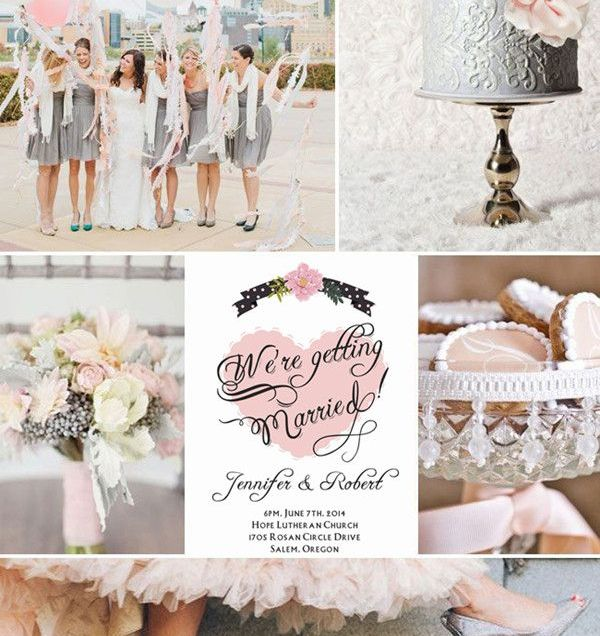 17 Best Ideas About Pink Grey Wedding On Emasscraft Org