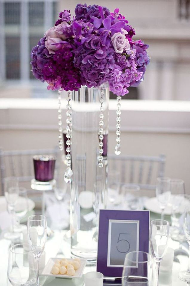 17 Best Ideas About Purple Wedding Centerpieces On Emasscraft Org