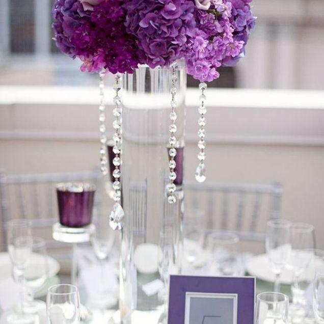 17 Best Ideas About Purple Wedding Centerpieces On Emasscraft Org