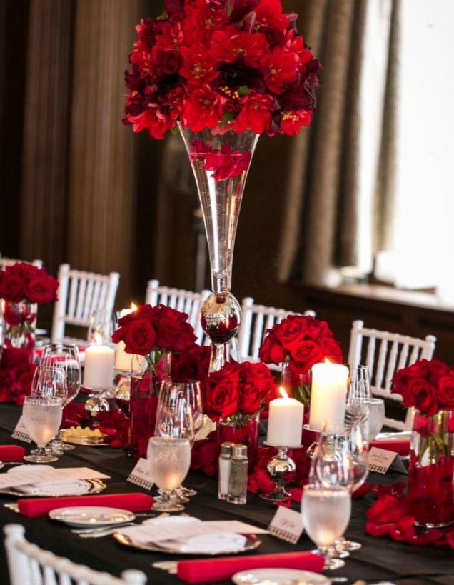 17 Best Ideas About Red Wedding Centerpieces On Emasscraft Org