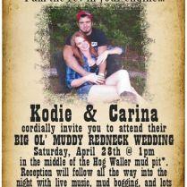 17 Best Ideas About Redneck Wedding Invitations On Emasscraft Org